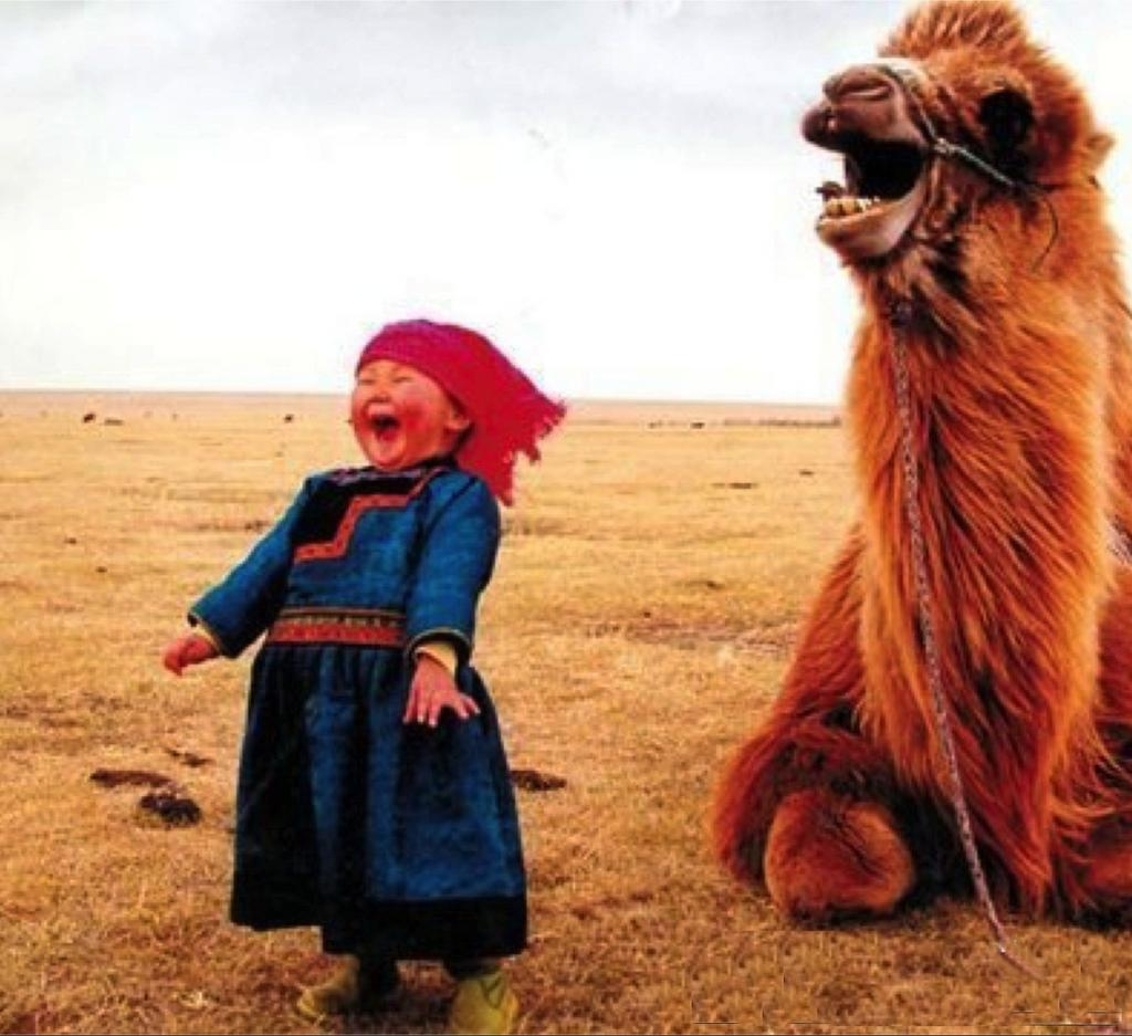 A Girl And A Camel Laughing Together | Nomad of the Universe